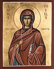 Sfânta Tecla Întâia-muceniță, cea întocmai cu Apostolii
