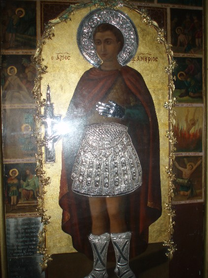 original icon of St. Phanourios. Rhodes.