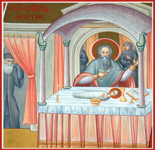Saint Savvas- miracle in church.jpg
