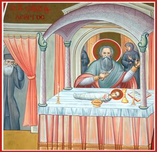 Saint Savvas- miracle in church.jpg