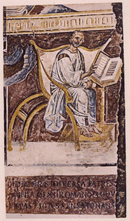 Sf. Augustin, episcop de HiponaCea mai veche reprezentare a sfântului Augustin, în biserica Lateran din Roma, secolul VI.