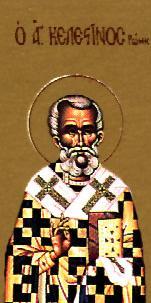 Sf. Celestin, Papă al Romei