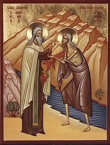 Sfinţii Zosima şi Maria Egipteanca