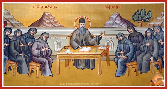 Saint Savvas -teaching Nuns.jpg