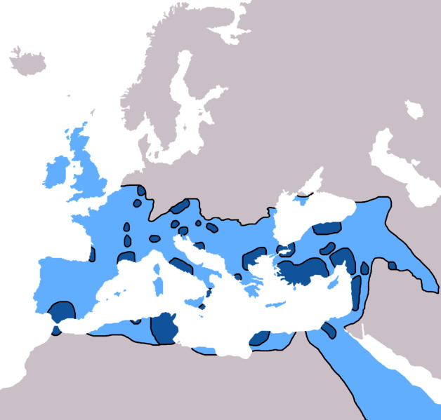 File:Spread of Christianity in Europe to AD 600.JPG