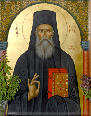Saint Savvas- Icon from his church.jpg