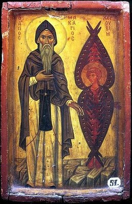 Fișier:St Macarius the Great with Cherub.jpg