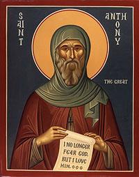Icoana Sfântului Antonie cel Mare