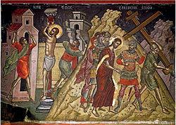 Христос на Голгота, Светогорска икона на Теофан Критски