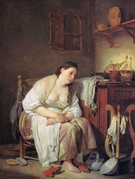 Fișier:Jean-Baptiste Greuze- Indolenţa (Fată italiană leneşă).jpg