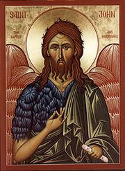 St Jean le Précurseur, le cousin du Christ et le dernier des prophètes.