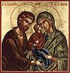 Santos Joaquim e Ana com sua filha, a Virgem Maria.