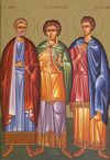 Santos Mena, Hermógenes e Eugrafos, mártires de Alexandria.