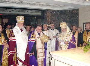 Episcopi: Arhiepiscopul Antonie de Hierapolis; Mitropolitul Constantin de Irinoupolis; Arhiepiscopul Vsevolod de Scopelos