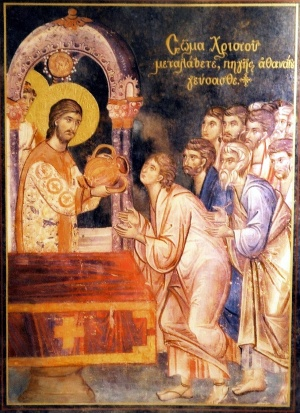 Image result for orthodox holy communion