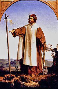 Sf. Bonifaciu, pictură de Alfred Rethel (1832)