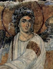 Le Saint Archange Gabriel, d'après une fresque du 13e s. en Serbie