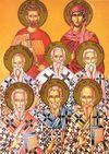 Apóstolos Estácio, Amplíato, Urbano, Narciso, Apeles, e Aristóbulo dos Setenta, Mártir Epímaco de Alexandria e Maura de Constantinopla.
