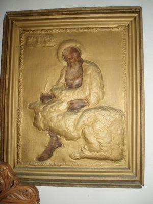 Old icon of the Theologian, Nisyros (Paros island)