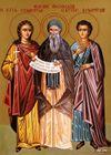Mártires Eulâmpio, sua irmã Eulâmpia e Teófilo da Bulgária