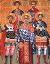 Mártires Eustrácio, Auxêncio, Eugênio, Mardário e Orestes de Sebástia.