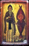 Venerable Macarius the Great of Egypt, with a Cherubim
